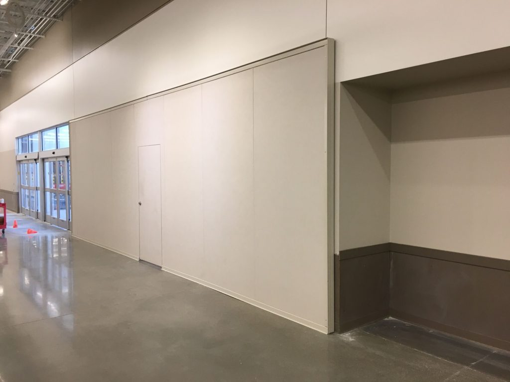 Store Kiosk Temp Construction Wall